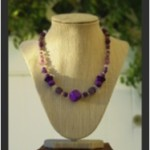 Necklaces in violet-1